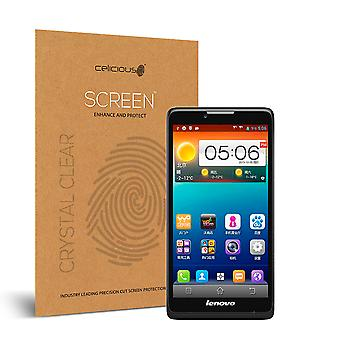 Celicious Vivid Invisible Glossy HD Screen Protector Film Compatible with Lenovo A880 [Pack of 2]