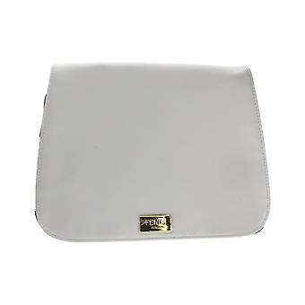 Fan Di Fendi Furiosa Trousse White Faux Leather Trousse Pouch (9