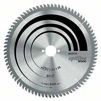 Carbide metal circular saw blade 254 x 30 x 2 mm Number of cogs: 60 Bosch Accessories Optiline 2608640436 1 pc(s)