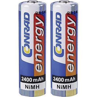 Conrad energy HR06 AA battery (rechargeable) NiMH 2400 mAh 1.2 V 2 pc(s)