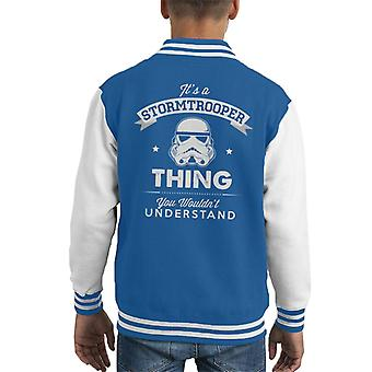 Original Stormtrooper Its A Trooper Thing Kid's Varsity Jacket