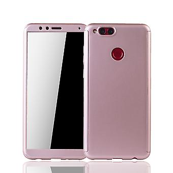Huawei honor 7 X phone case protective case full cover tank protection glass rose