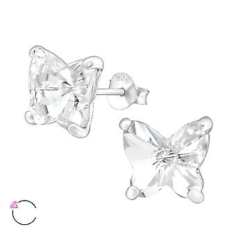 Butterfly crystal from Swarovski® - 925 Sterling Silver Ear Studs