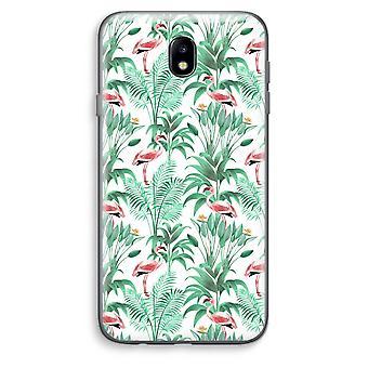 Samsung Galaxy J7 (2017) Transparent Case - Flamingo leaves