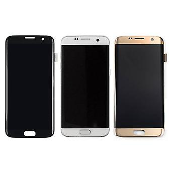 Материал сертифицирован® S7 Samsung Галактика краю дисплея (LCD + сенсорный экран + частей) + качество - черный / белый / золото