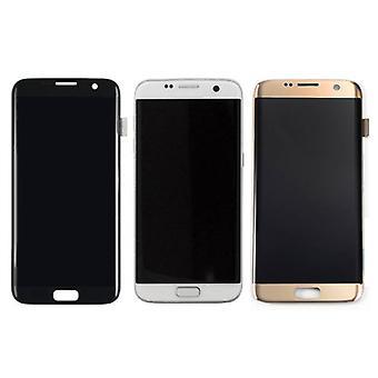 Zeug zertifiziert® Samsung Galaxy S7 Edge Display (LCD + Touchscreen + Teile) A + Qualität - schwarz / weiß / Gold