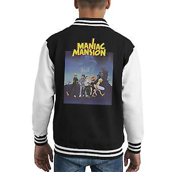 Maniac Mansion Cover Kid Varsity Jacket
