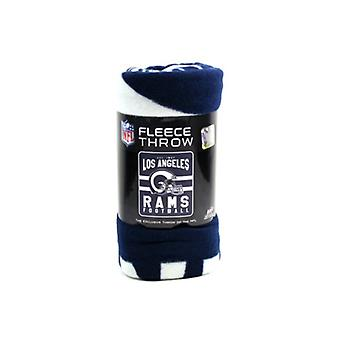 Los Angeles Rams NFL Northwest Team Stripe Fleece Throw