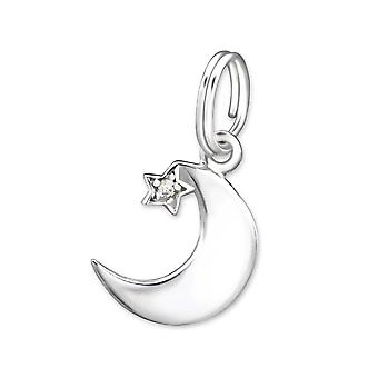 Moon - 925 Sterling Silver Charms With Split Ring - W29269x