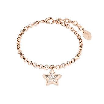 s.Oliver jewel ladies bracelet stainless steel IP ROSE 2023226 star