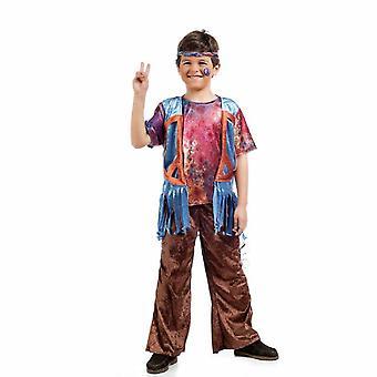 Chico hippie disfraces de niño Bosco amor traje de niño de la flor de paz