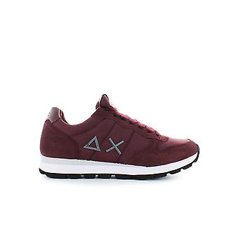 SUN68 BURGUNDY TOM SOLID NYLON SNEAKER