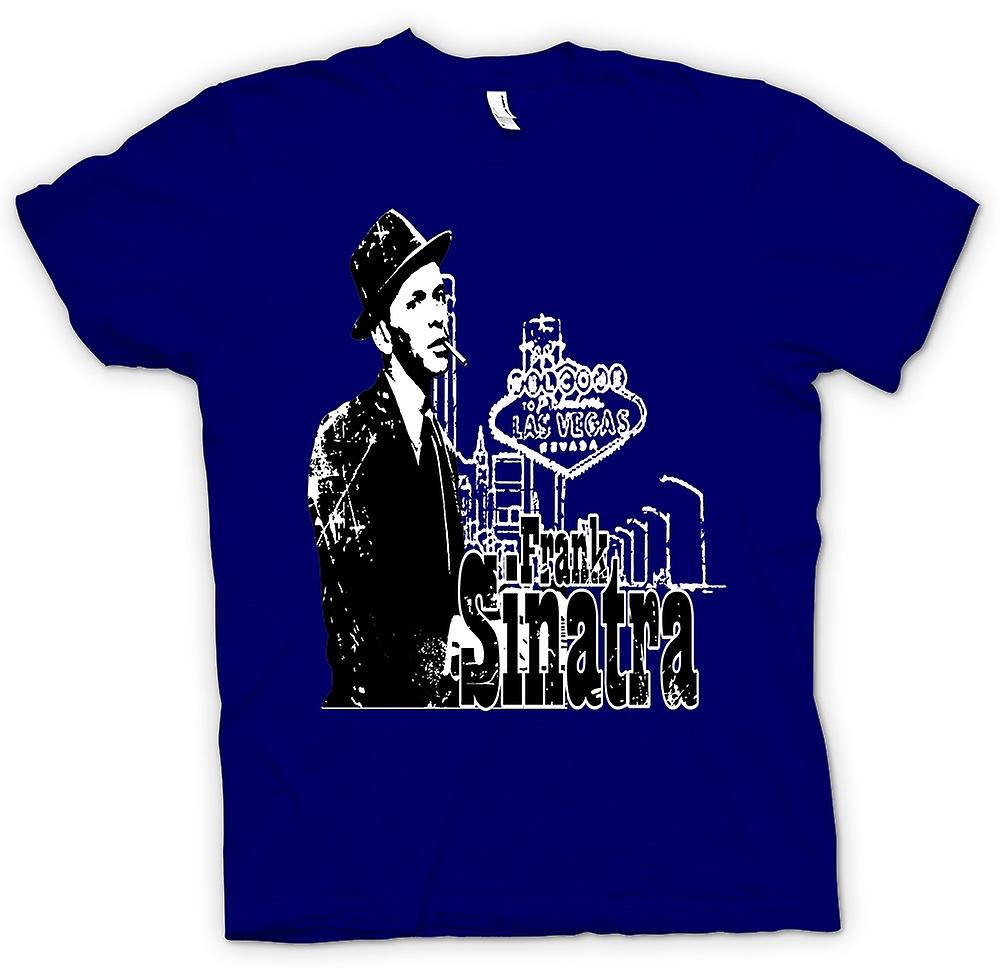 Mens T-shirt-Frank Sinatra Vegas - Swing - pictogram