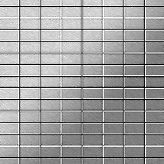 Mosaico de metal sólido Acero inoxidable ALLOY Bauhaus-S-S-MB