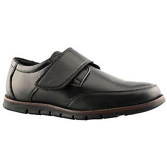 Mens Soft Leather Touch Fastening Smart Office Work Formal Shoes
