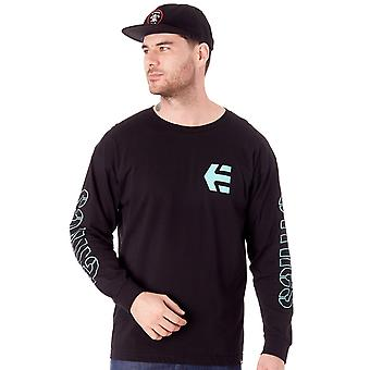 Etnies Black Stencil Long Sleeved T-Shirt