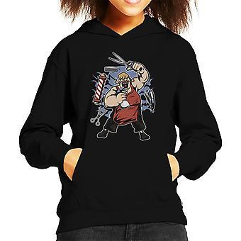 Fat Barber Kid's Hooded Sweatshirt