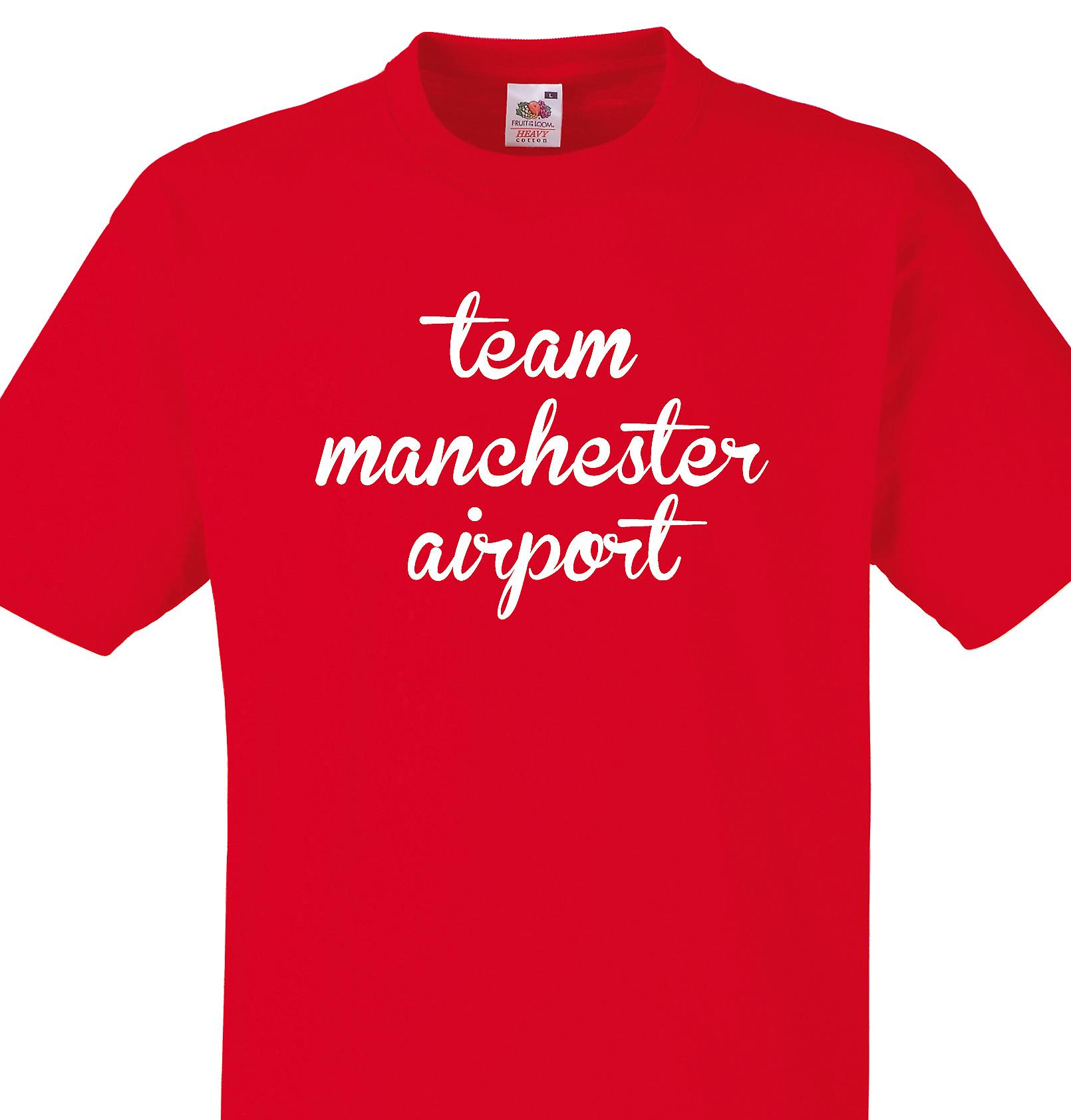 Team Manchester airport Red T shirt