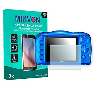 Nikon COOLPIX S31 Screen Protector - Mikvon Clear (Retail Package con accessori)