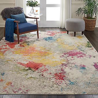 CES12 celeste rectángulo Multi marfil alfombras alfombras Funky