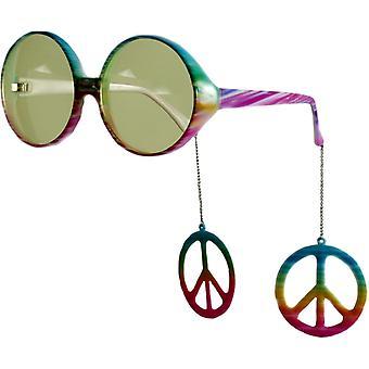 Glasses Peace Danglers Multi