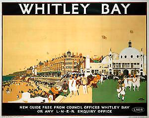 Whitley Bay (old LNER ad.) fridge magnet   (se)