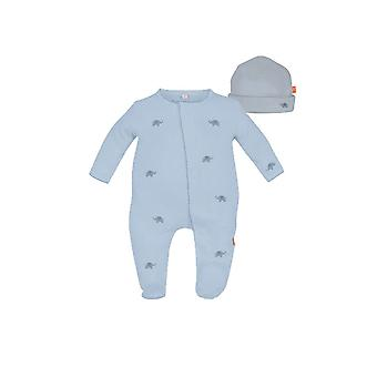 Magnetic me™ por Magnificent Baby cotton Darjeeling elefante Footie & Hat Set