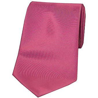 David Van Hagen Horizontal gerippt aus Polyester Krawatte - Fuchsia