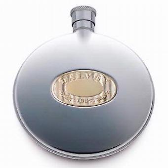 Dalvey Classic Compact Hip And Sporran Flask with Gold Detail
