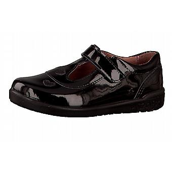Ricosta Girls Liza T-bar School Shoes Black Patent Leather
