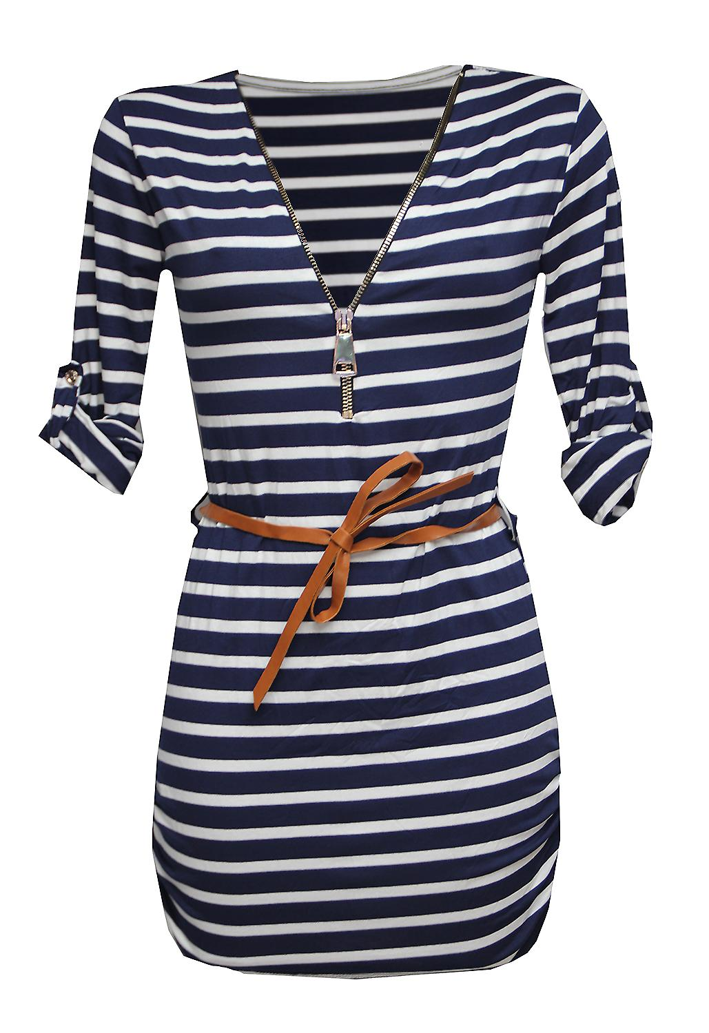 Waooh - short summer dress striped sailor way