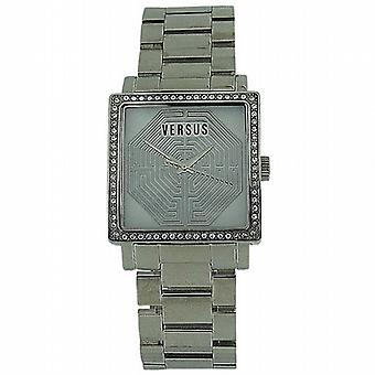 Versus Ladies Dazzle Crystal Bezel All Stainless Steel Watch AL12SBQ9F01-A099