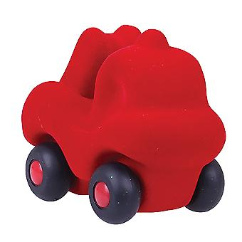 Rubbabu Soft Plush Micro Fireman Rubba Engine (Red) for Babies, Children