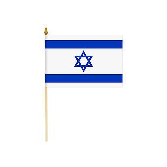 Bandera de Israel mano Held