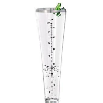 Rain knife stainless steel matt, acrylic container with scale