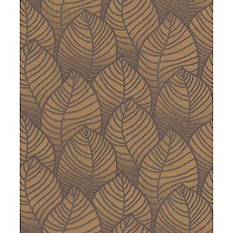 Grandeco Orion Floral Leaf Pattern Embossed Motif Non-Woven Wallpaper ON3005