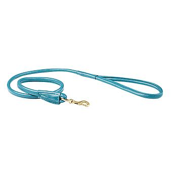 Weatherbeeta Rolled Leather Dog Lead - Teal