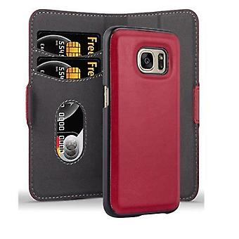 Cadorabo Case for Samsung Galaxy S7 Case Cover - Phone Case in 2-in-1 Design with Stand Function and Card Compartment - Hard Case Book Case Case Cover