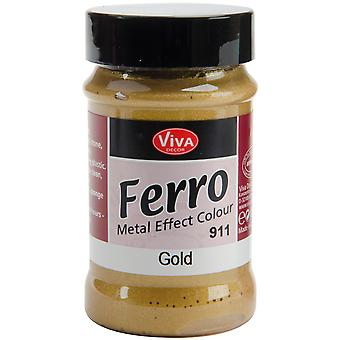 Ferro Metal Effect Textured Paint 3 Ounces Gold Vvferro 2711
