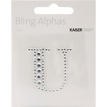 Bling Alphas Self Adhesive Rhinestone Letter 1.375
