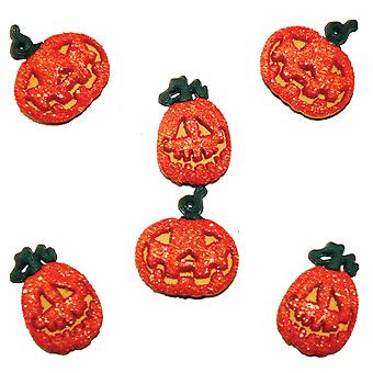 Dress It Up Fall & Halloween Embellishments Glitter Pumpkin Diufall 4859