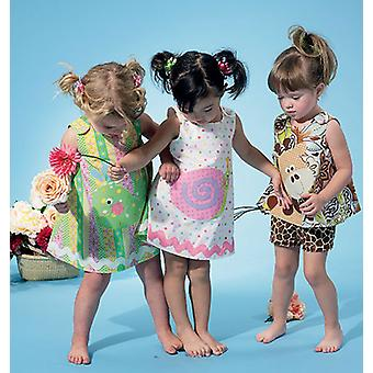 Infants' Top, Dress, Shorts And AppliquÉS  All Sizes In One Envelope Pattern M6541  Ya5