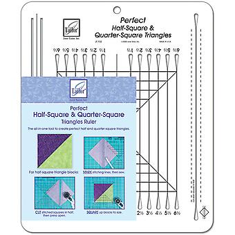 Perfect Half Square & Quarter Square Triangles Ruler 10 1 2