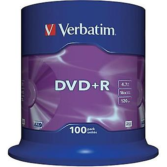 Blank DVD+R 4.7 GB Verbatim 43551 100 pc(s) Spindle