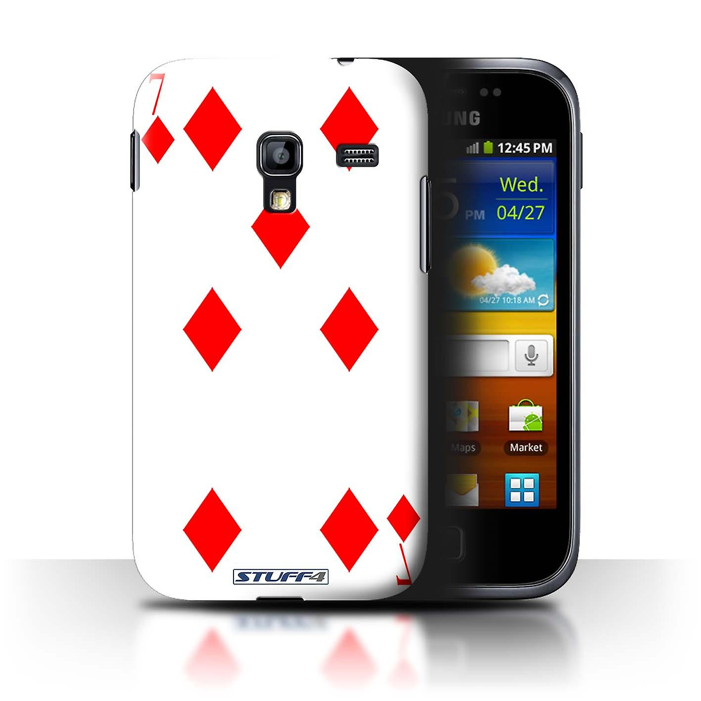 Stuff4 Case Cover For Samsung Galaxy Ace Plus S7500 7 Of Diamonds Samsungampnbsp Note 4 Playing Cards Housses