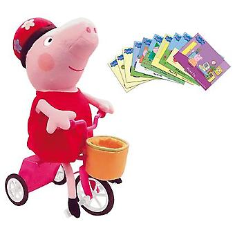 Bandai Peppa And Your Bike (Giocattoli , Prescolare , Bambole Peluches)