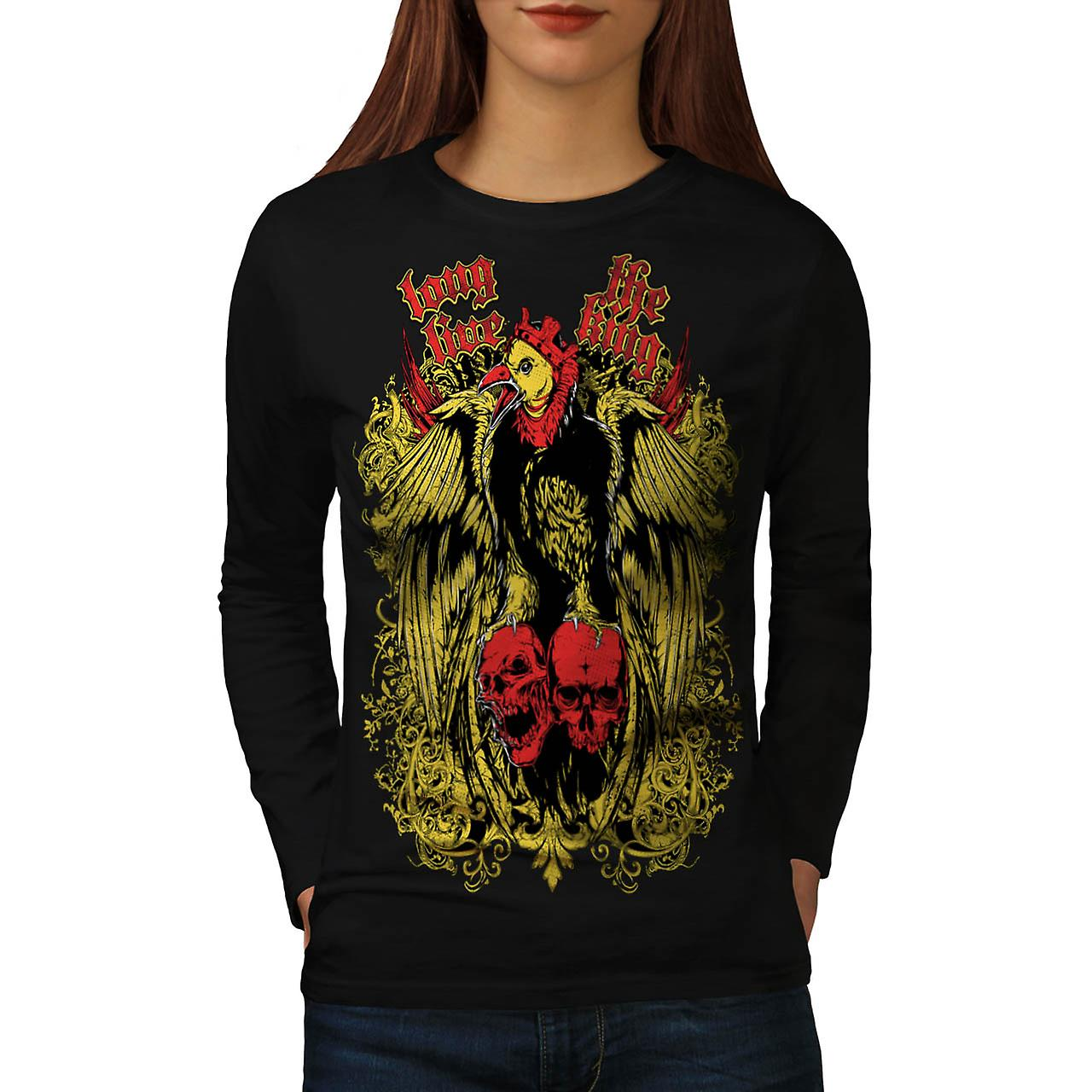 Long Live King Bird Giant Eagle Women Black Long Sleeve T-shirt | Wellcoda