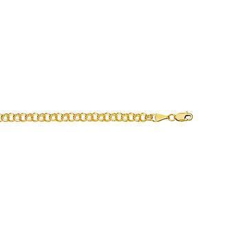 14k geel goud 3.5 mm bedelarmband - lengte: tot en met 8