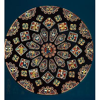Frankreich Chartres Chartres Kathedrale Verherrlichung der Jungfrau Nord Rose Buntglasfenster Poster Print
