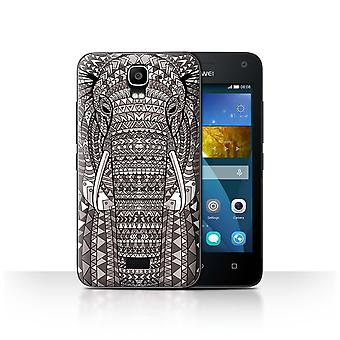STUFF4 Case/Cover for Huawei Y3/Y360/Elephant-Mono/Aztec Animal